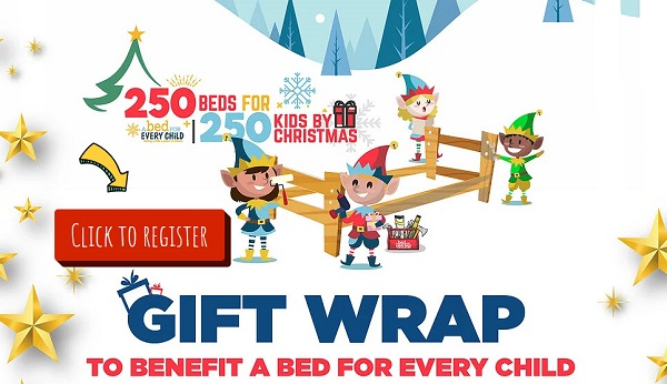 Gift wrap event for Bed for Every Child