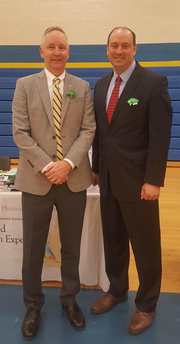 Ron McLean, President/CEO, Cooperative Credit Union Association, Inc., and State Senator Jamie Eldridge (right)