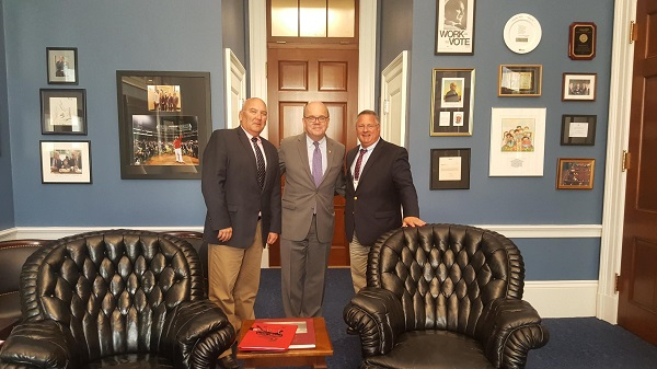 James Regan, President/CEO, Digital Federal Credit Union; Congressman Jim McGovern; Craig Roy, SVP/Retail Lending, Digital Federal Credit Union