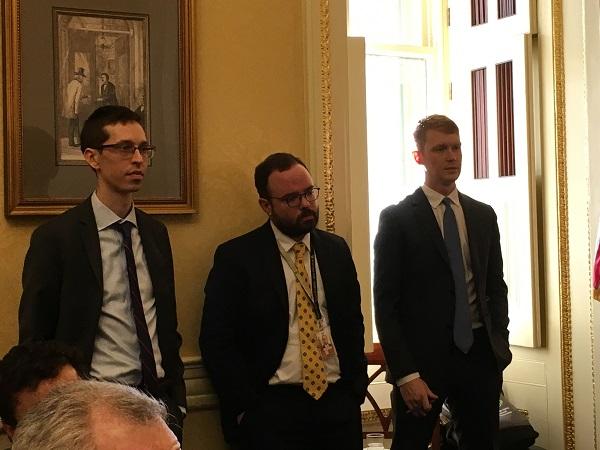 (l-r): Jay Weismuller, from Senator Hassan's office; Robert Hanson, from Senator Shaheen's office; and Travis Krogman, from Congresswoman Kuster's office.