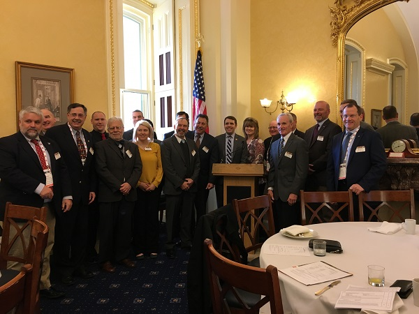 New Hampshire Credit Unions met with Congressman Chris Pappas (behind podium) during the New Hampshire Congressional Breakfast yesterday.