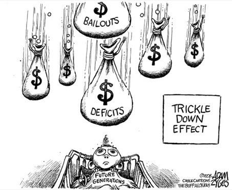 Trickle down cartoon