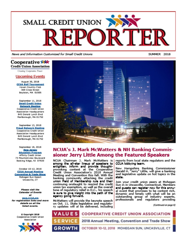 Summer Edition of the Small Credit Union Reporter Now Available