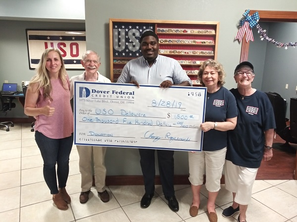 Dover Federal Credit Union Continues to Show Support for USO Delaware