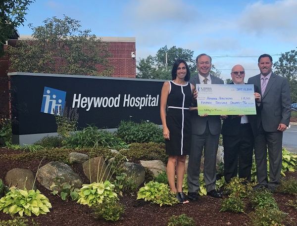 IC Credit Union Pledges $15K for Heywood Healthcare Quabbin Retreat Project
