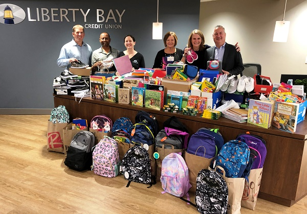 Liberty Bay Credit Union Collects Back to School Supplies