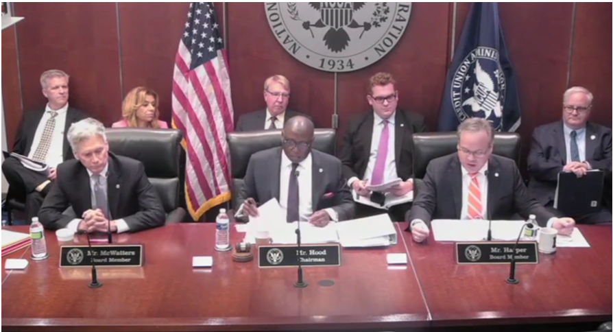 NCUA Board Adopts Final Rules on Fidelity Bonds and Appraisals, Among Other Actions