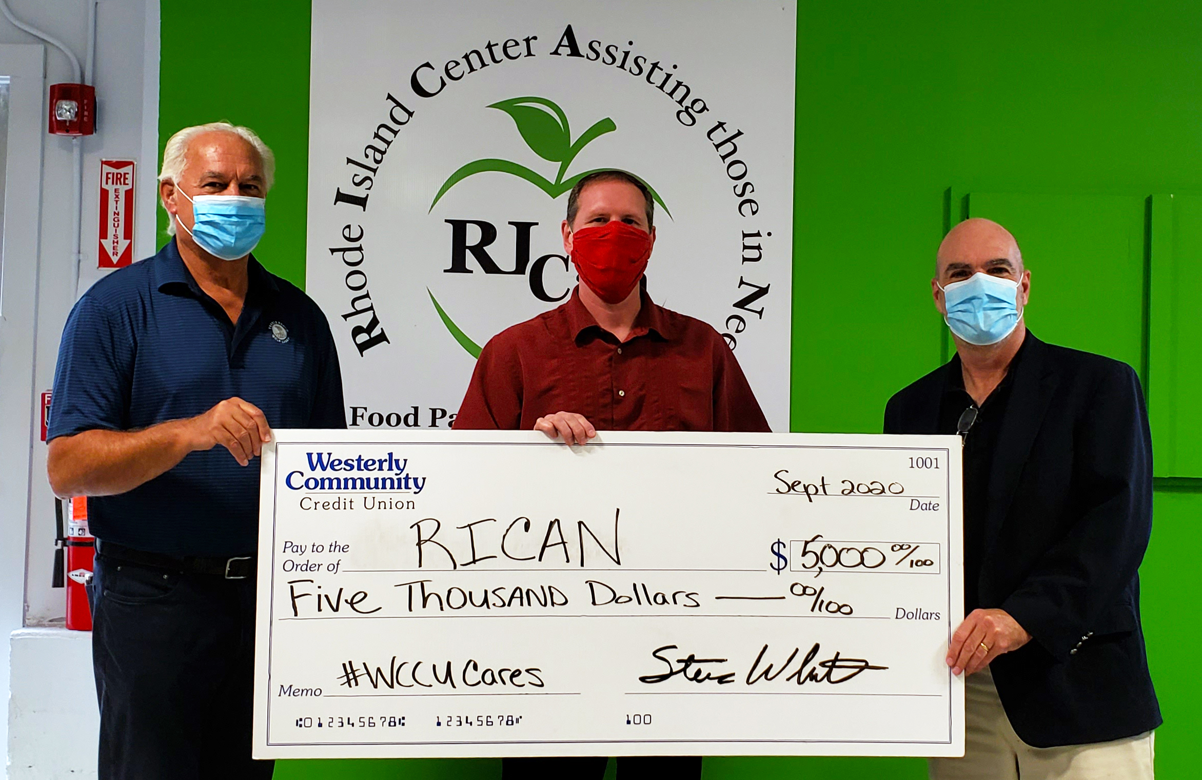 Westerly Community Credit Union donates $5,000 to Rhode Island Center Assisting those in Need (RICAN)