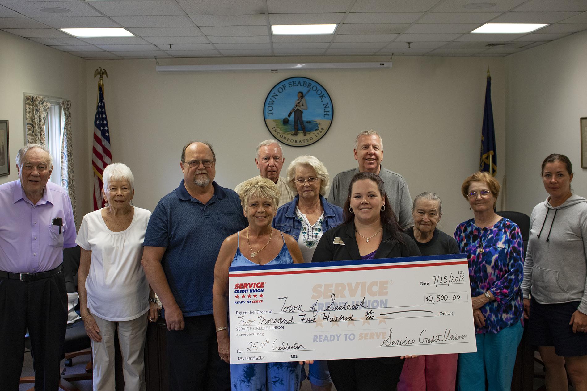 Service Credit Union Supports Seabrook 250th Anniversary Celebration