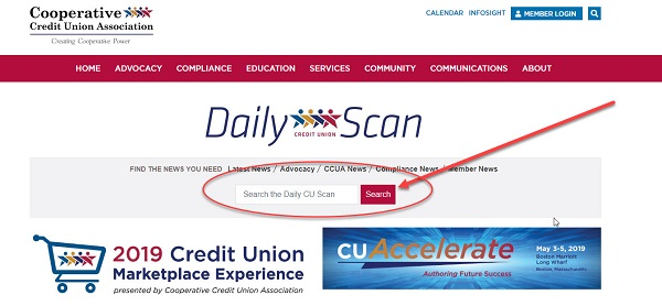 Search the Scan – Available on Daily CU Scan Website | Cooperative